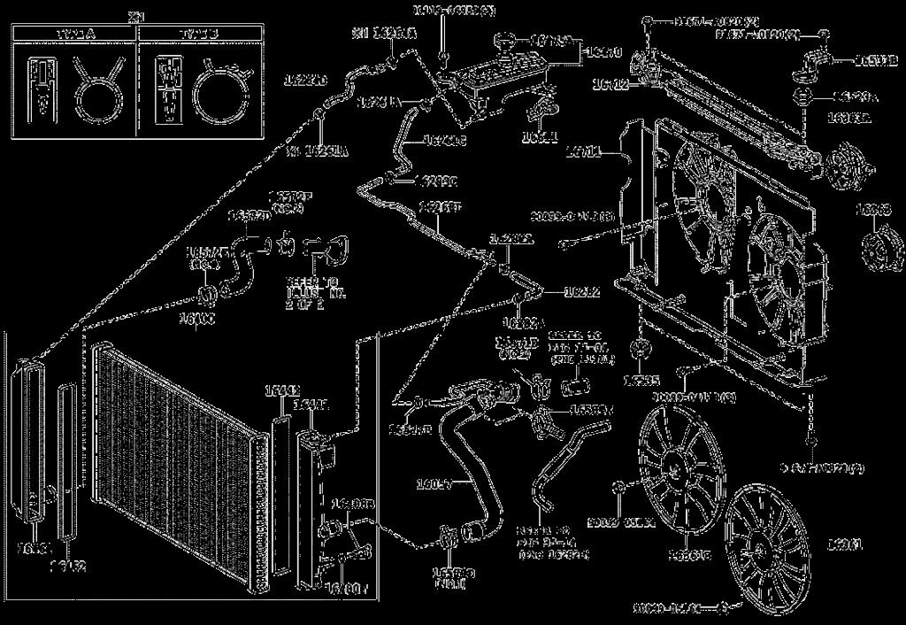 شماتیک محل نصب و قرارگیری جنت و لوله آب رادیاتور لیفان ایکس 60
